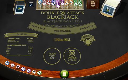 Printscreen William Hill Double Attack Blackjack