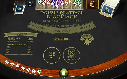 Printscreen William Hill Double Attack Blackjack