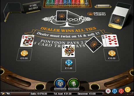 Printscreen Kroon Pontoon Blackjack