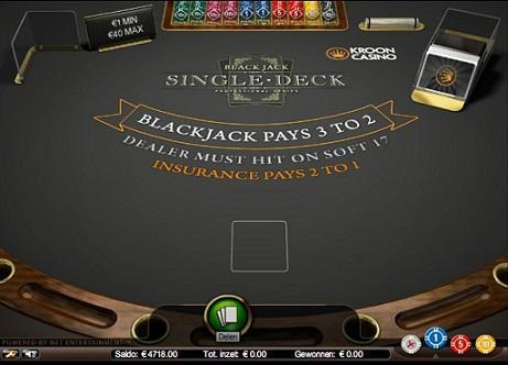 Kroon Single Deck Blackjack