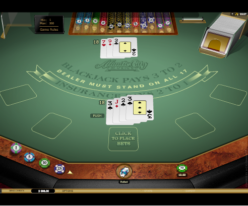 Printscreen Royal Panda Atlantic City Blackjack