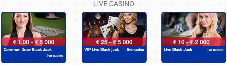 Polder Casino Live Blackjack