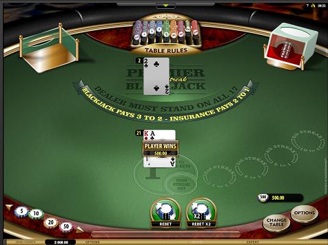King Billy Casino High Streak Blackjack