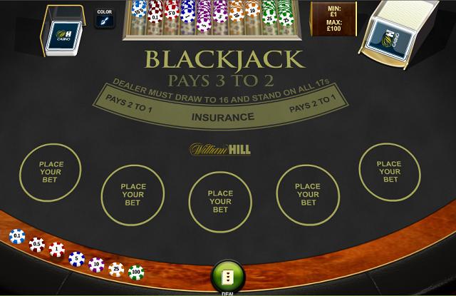 Printscreen UK Blackjack