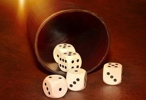 Tafelspelen met dobbelstenen