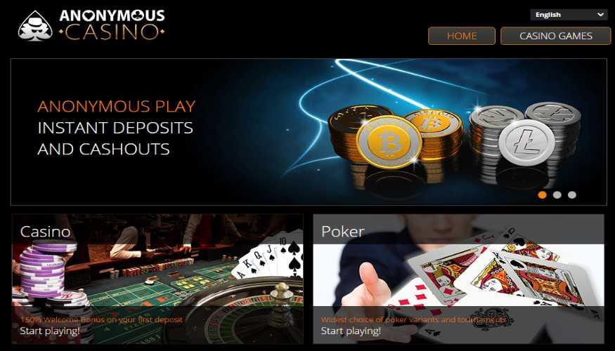 Anoniem Casino Screenshot