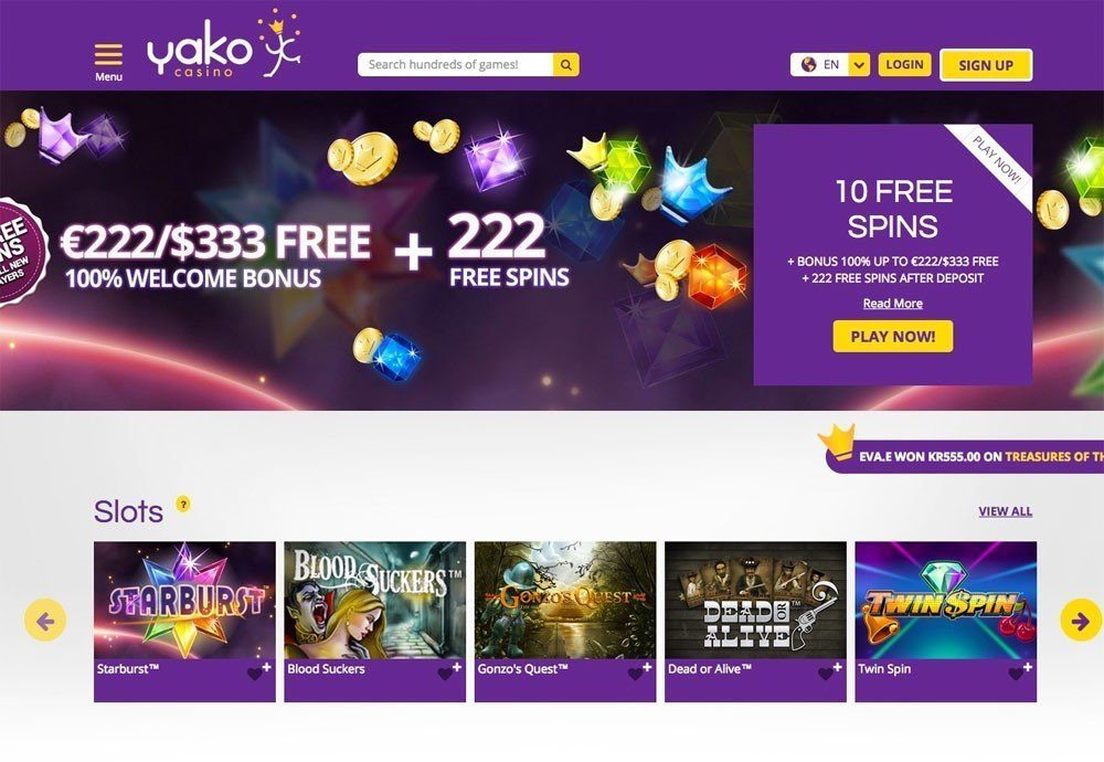 Yako Casino 10 Free Spins