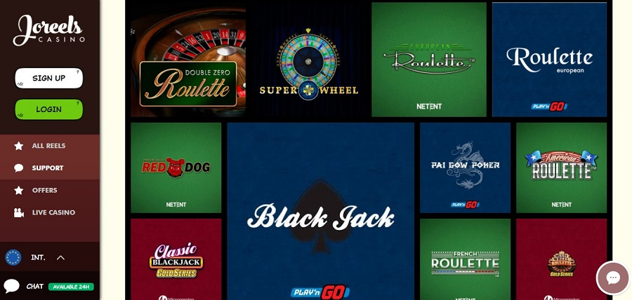 Joreels Casino Spellen