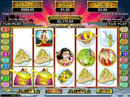 Aladdin Wishes Slots