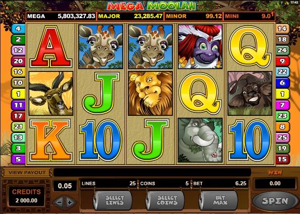 Screenshot Mega Moolah