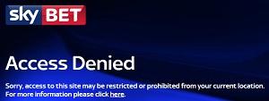 SkyBet Access Denied