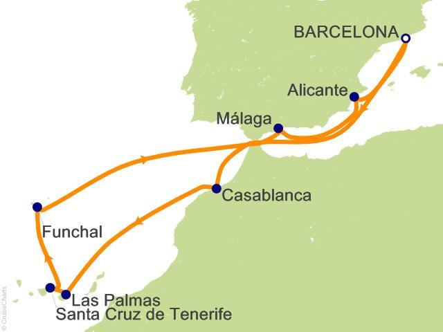 Cruise Canarische Eilanden
