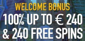 Welkomstbonus 240 Free Spins