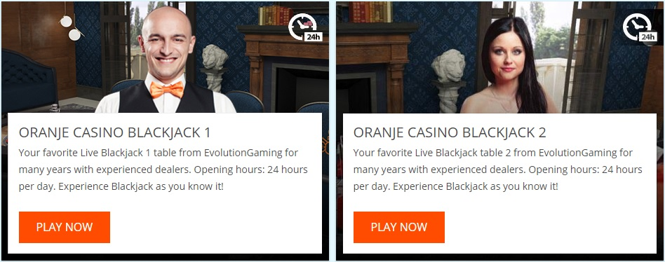 Oranje Casino Live Blackjack