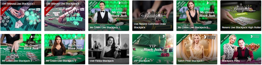 Mr Green Live Blackjack