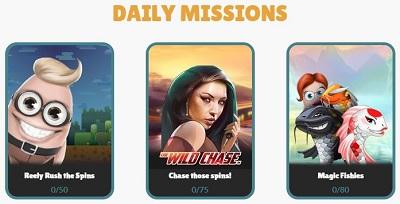 Dagelijkse Missies Cashmio