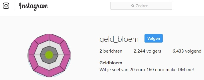 Geldbloem Instragram
