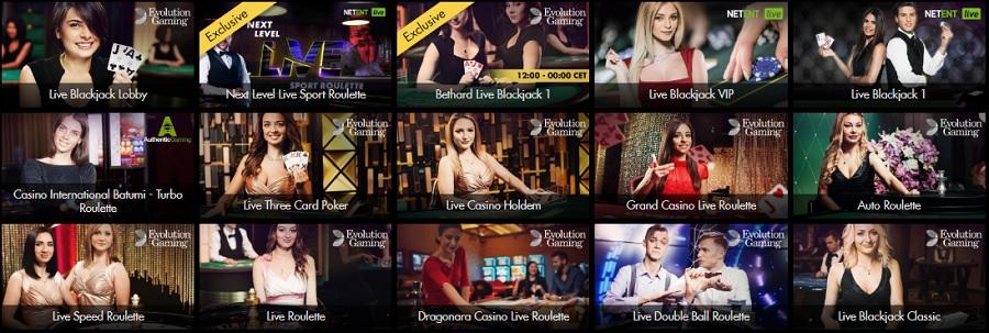 Live Casino Bethard