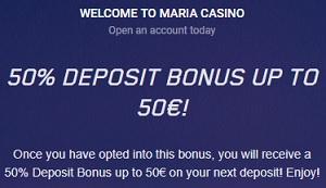 Maria Casino Welkomstbonus