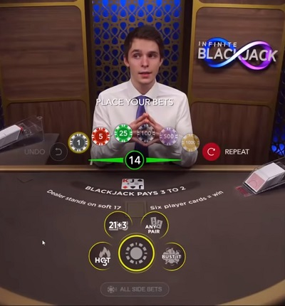 Infinite Blackjack Evolution Gaming