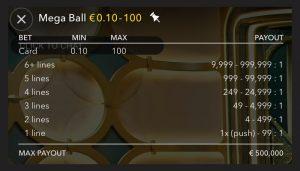 Mega Ball Uitbetaling