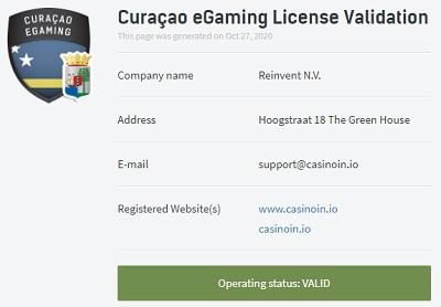 Casinoin Licentie Curaçao