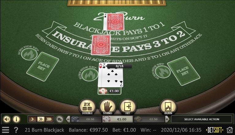 21 Burn Blackjack Screenprint