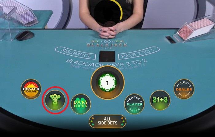 All Bets Top 3 Blackjack