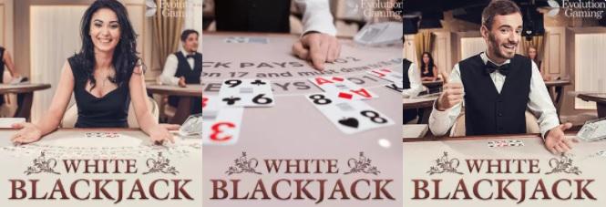 Blackjack White Evolution Gaming