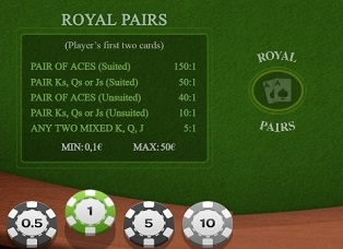 Royal Pairs Side Bet