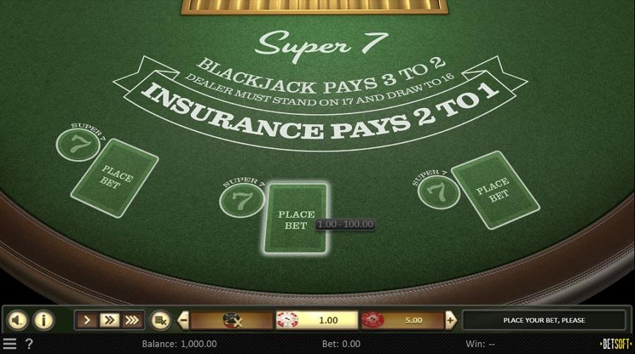 Super 7 Blackjack Betsoft