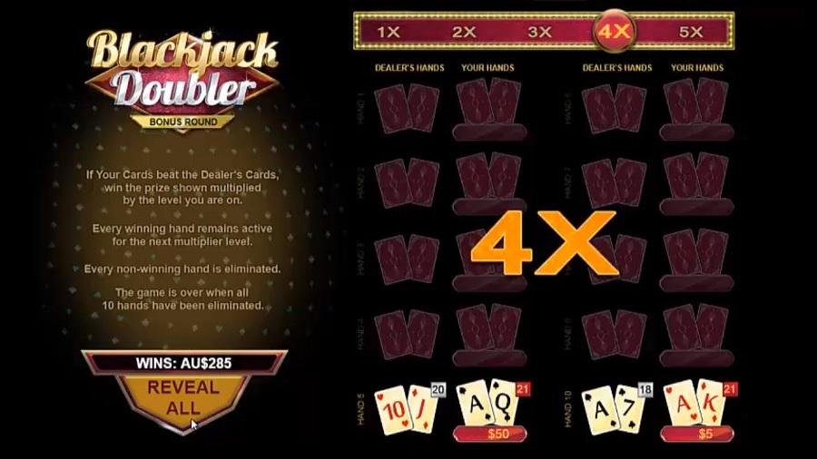 Blackjack Doubler Bonusronde