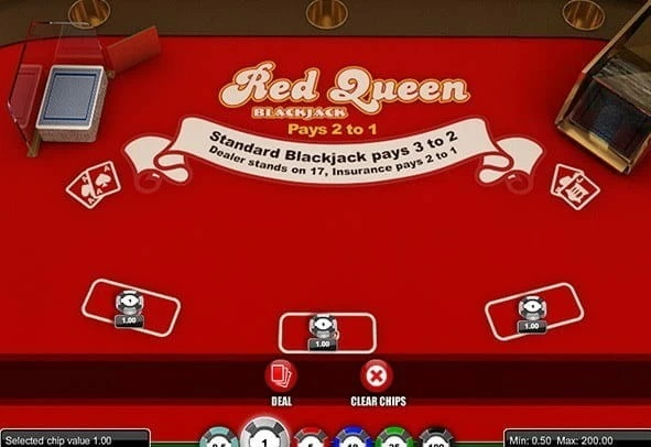 Red Queen Blackjack Vrouw