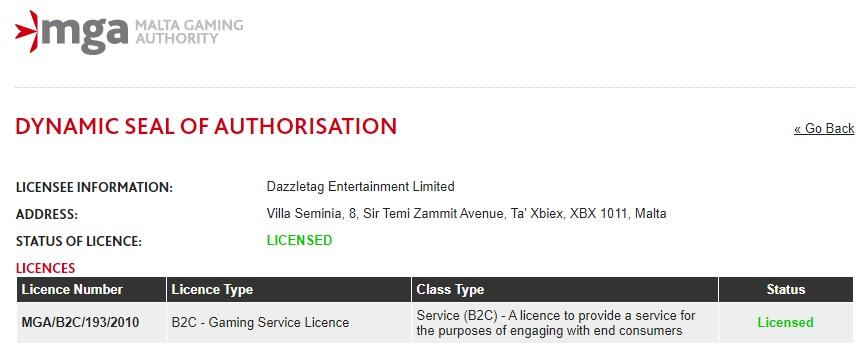 Dazzletag Entertainment Limited
