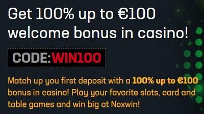 Noxwin Welkomstbonus