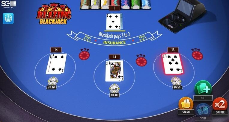 Blazing 7's Blackjack Printscreen