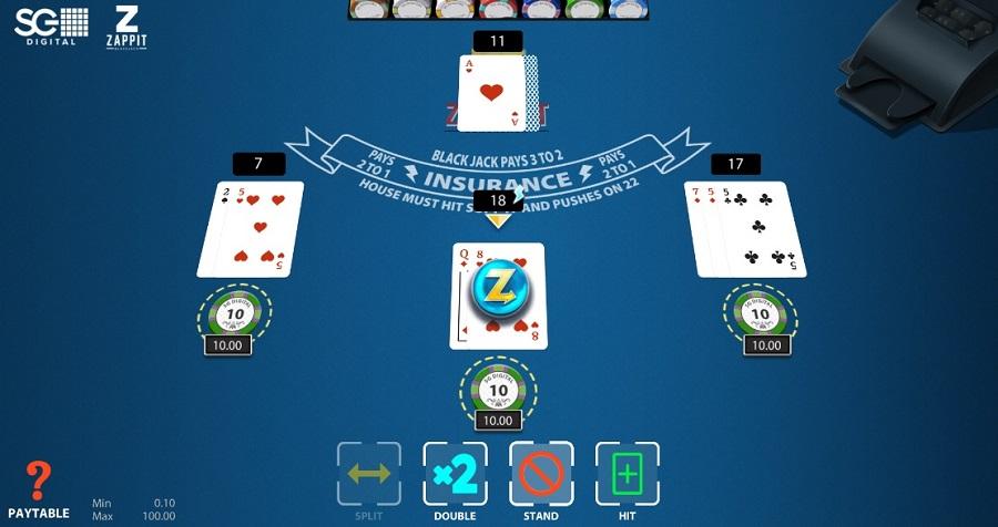 ZAPPIT Blackjack Printscreen