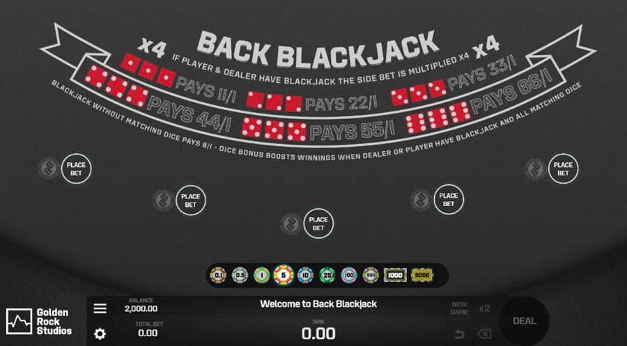 Back Blackjack Printscreen